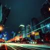 Night car motion in Shenzhen